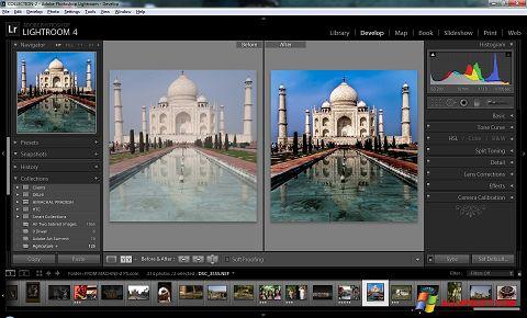 Zrzut ekranu Adobe Photoshop Lightroom na Windows XP
