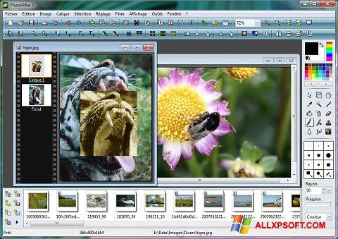 Zrzut ekranu PhotoFiltre na Windows XP