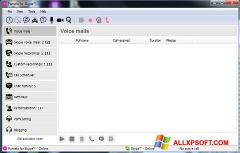 Zrzut ekranu Pamela for Skype na Windows XP