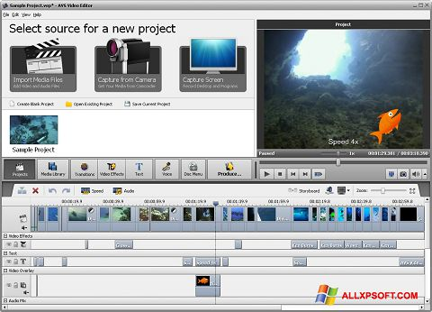 Zrzut ekranu AVS Video Editor na Windows XP