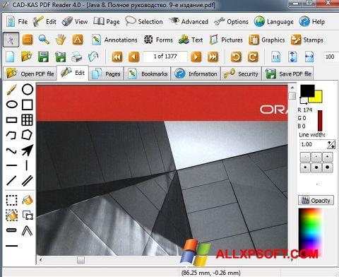 Zrzut ekranu PDF Reader na Windows XP