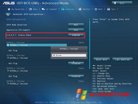 Zrzut ekranu ASUS Update na Windows XP