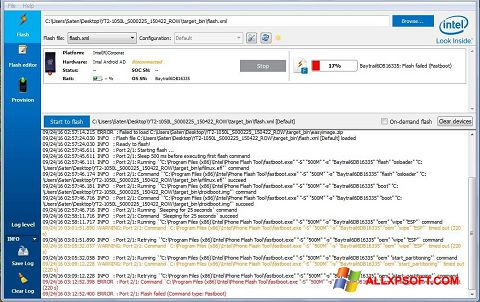 Zrzut ekranu FlashBoot na Windows XP