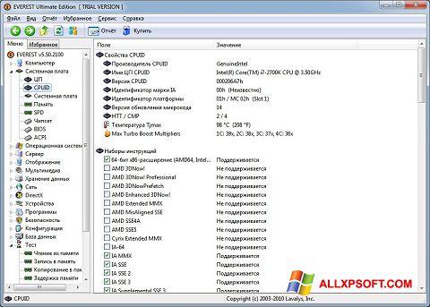 Zrzut ekranu EVEREST na Windows XP