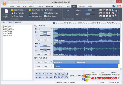 Zrzut ekranu AVS Audio Editor na Windows XP