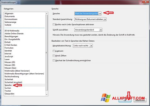 Zrzut ekranu Adobe Reader na Windows XP