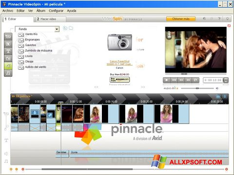 Zrzut ekranu Pinnacle VideoSpin na Windows XP