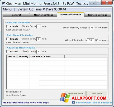 Zrzut ekranu CleanMem na Windows XP