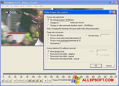 Zrzut ekranu VirtualDubMod na Windows XP