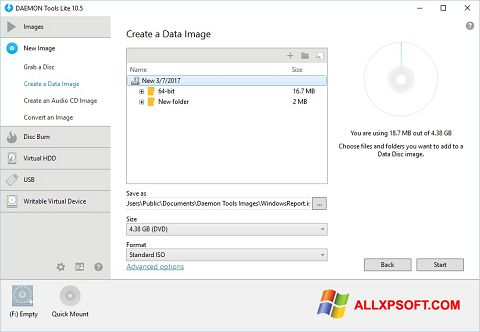 Zrzut ekranu DAEMON Tools Lite na Windows XP