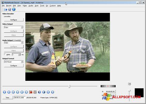 Zrzut ekranu Avidemux na Windows XP