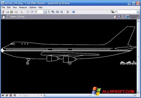 Zrzut ekranu DWG Viewer na Windows XP