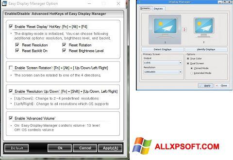 Zrzut ekranu Easy Display Manager na Windows XP