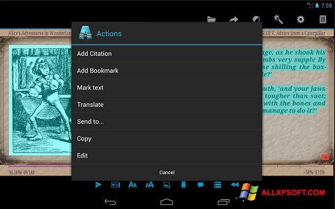 Zrzut ekranu AlReader na Windows XP