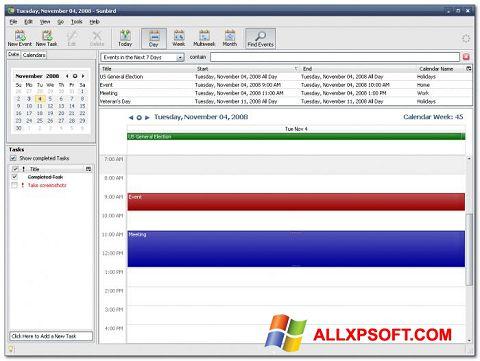 Zrzut ekranu Mozilla Sunbird na Windows XP