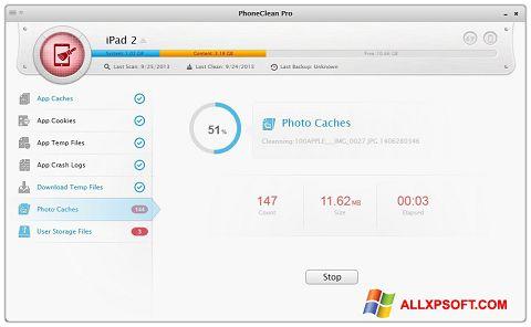 Zrzut ekranu PhoneClean na Windows XP