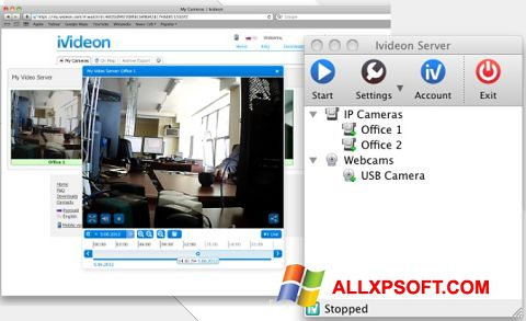Zrzut ekranu Ivideon Server na Windows XP
