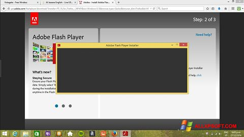 Zrzut ekranu Adobe Flash Player na Windows XP