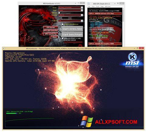 Zrzut ekranu MSI Kombustor na Windows XP