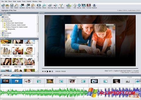 Zrzut ekranu ProShow Gold na Windows XP