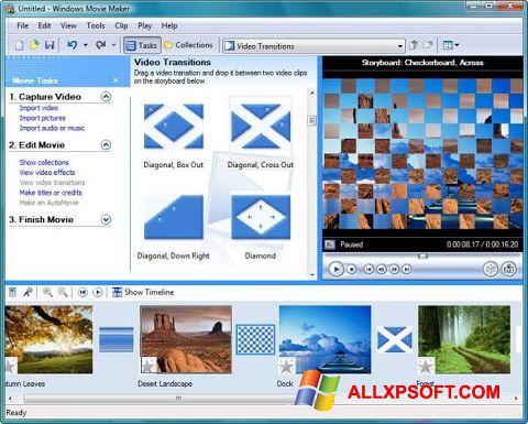 Zrzut ekranu Windows Movie Maker na Windows XP