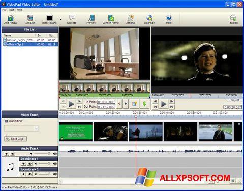 Zrzut ekranu VideoPad Video Editor na Windows XP