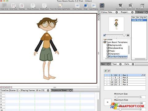 Zrzut ekranu Toon Boom Studio na Windows XP