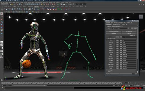 Zrzut ekranu Autodesk Maya na Windows XP