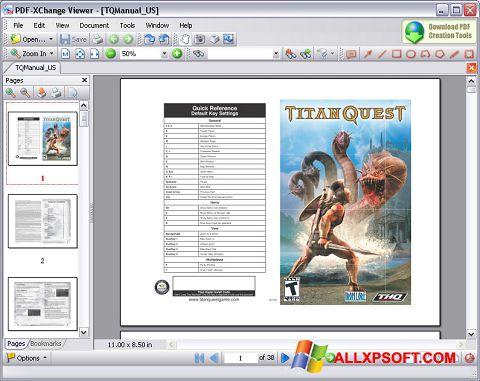 Zrzut ekranu PDF-XChange Viewer na Windows XP