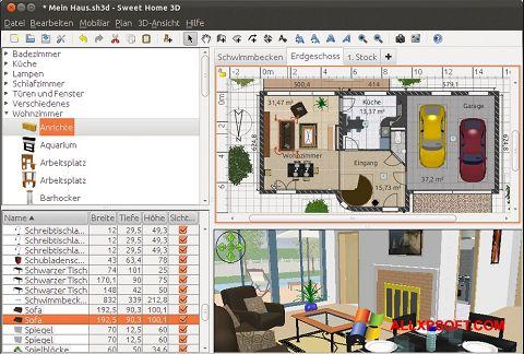 Zrzut ekranu Sweet Home 3D na Windows XP