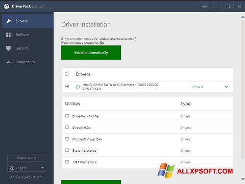 Zrzut ekranu DriverPack Solution na Windows XP