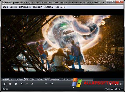Zrzut ekranu MPC-BE na Windows XP