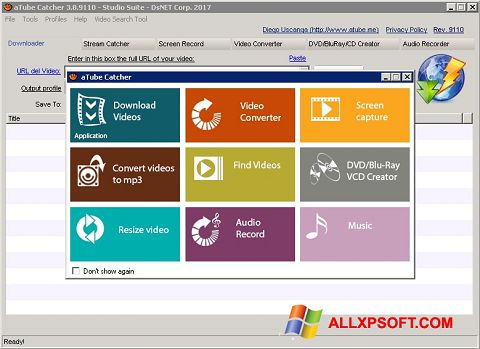 Zrzut ekranu aTube Catcher na Windows XP