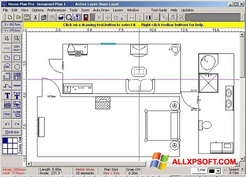 Zrzut ekranu Home Plan Pro na Windows XP
