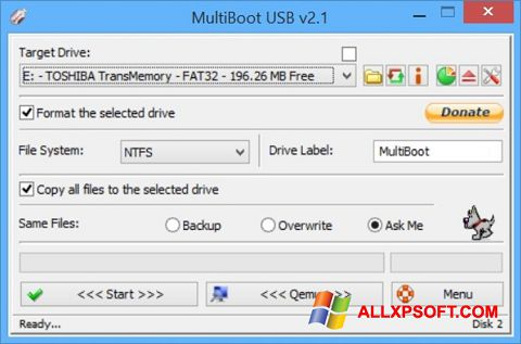 Zrzut ekranu Multi Boot USB na Windows XP