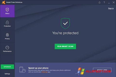 Zrzut ekranu Avast Free Antivirus na Windows XP