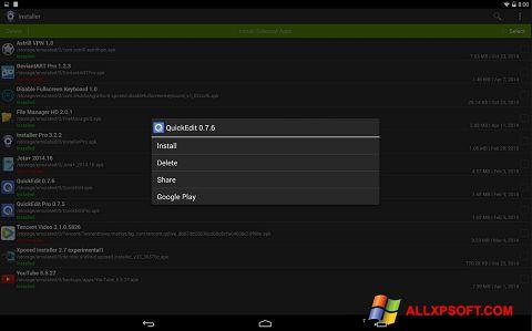 Zrzut ekranu InstAllAPK na Windows XP