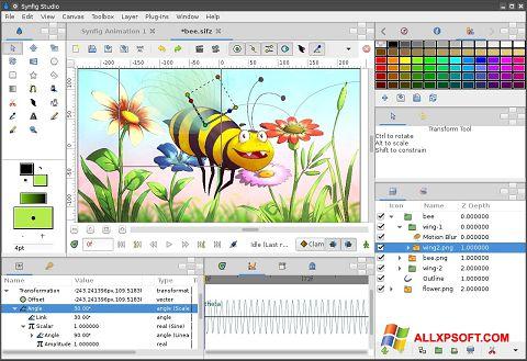 Zrzut ekranu Synfig Studio na Windows XP