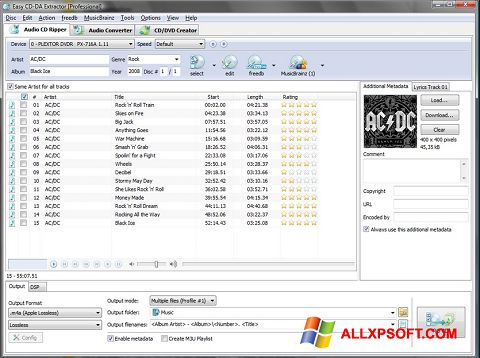Zrzut ekranu Easy CD-DA Extractor na Windows XP
