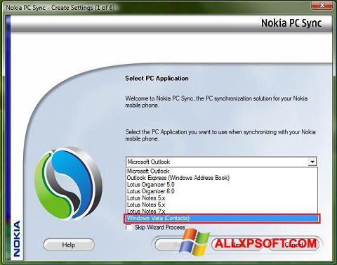 Zrzut ekranu Nokia PC Suite na Windows XP