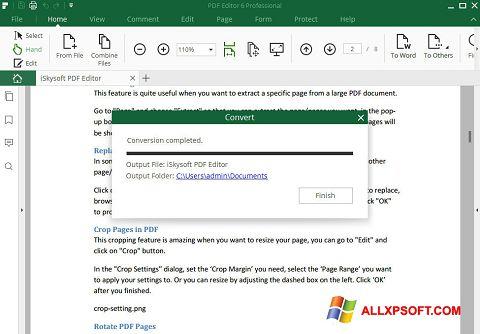 Zrzut ekranu PDF Editor na Windows XP