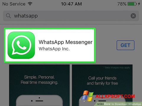 Zrzut ekranu WhatsApp na Windows XP