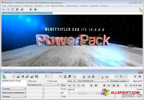 Zrzut ekranu BluffTitler na Windows XP