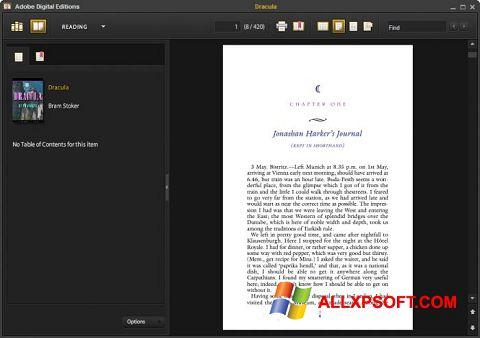 Zrzut ekranu Adobe Digital Editions na Windows XP