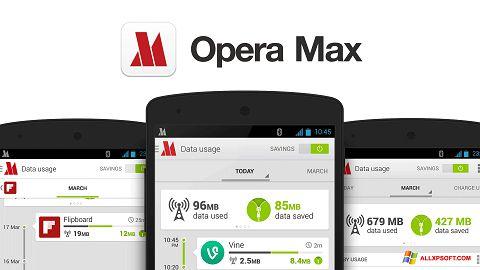 Zrzut ekranu Opera Max na Windows XP