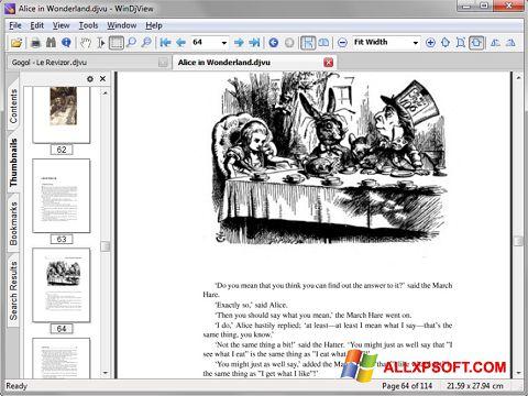 Zrzut ekranu DjView na Windows XP