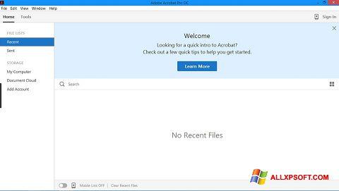 Zrzut ekranu Adobe Acrobat Pro na Windows XP