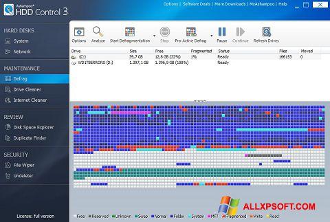 Zrzut ekranu Ashampoo HDD Control na Windows XP