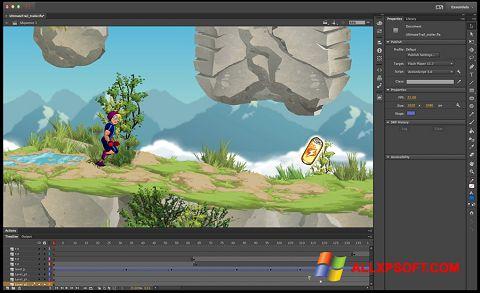 Zrzut ekranu Adobe Flash Professional na Windows XP