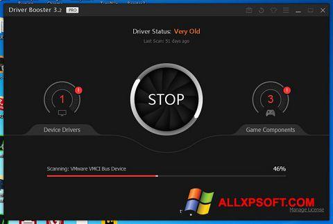Zrzut ekranu Driver Booster na Windows XP
